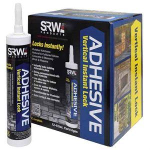 Instant adhesive for stone and veneer