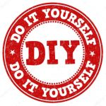 Red DIY, Do It Yourself Emblem