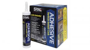 Stone veneer adhesive glue for installing stone or rock on a vertical wall