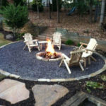 Fire Pit with Decorative Gravel