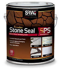 Can of natural stone flooring sealant SPS by SRW