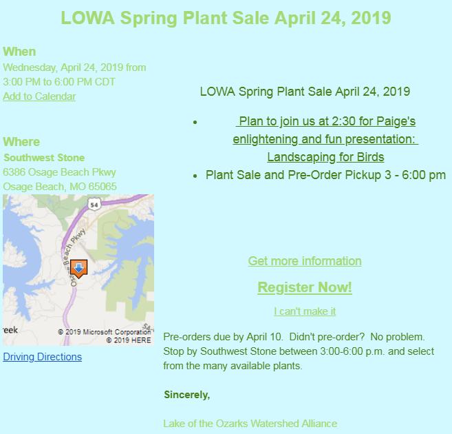 LOWA Plant Sale