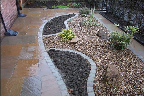 Decorative gravels used in attractive landscape design