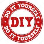 Red DIY, Do It Yourself Emblem