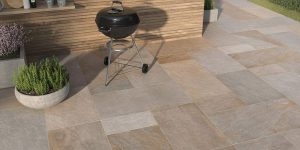 Patio made of Bluestone Porcelain Pavers in Osage Beach, MO