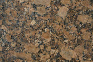 Granite floor tile demonstrating all the color and particulate detail inherent in the stone