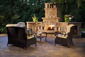 Outdoor fireplaces &fire pits are some of our best-selling hardscape and landscape supply kits