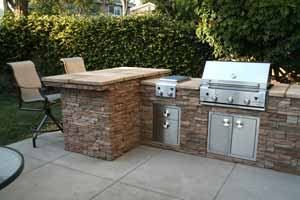 Outdoor kitchen kits are part of the stone and landscaping supplies near me that are available here