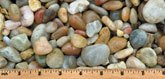 "1""-2"" Alabama Sunset multi-color gravel for landscaping"