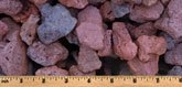 Red lava rock for landscaping